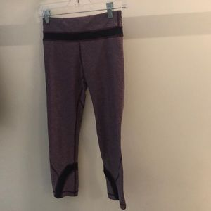 Lululemon plum and purple crop legging, sz 4